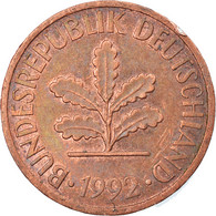 Monnaie, République Fédérale Allemande, 2 Pfennig, 1992, Karlsruhe, TTB - 2 Pfennig