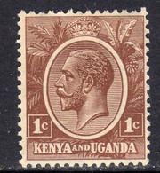 KUT Kenya & Uganda GV 1922-7 1c Brown, Hinged Mint, SG 76 (BA) - Kenya & Uganda