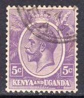 KUT Kenya & Uganda GV 1922-7 5c Dull Violet, Used, SG 77 (BA) - Kenya & Uganda