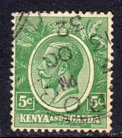 KUT Kenya & Uganda GV 1922-7 5c Green, Used, SG 78 (BA) - Kenya & Uganda