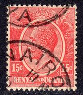 KUT Kenya & Uganda GV 1922-7 15c Rose-carmine, Used, SG 82 (BA) - Kenya & Uganda
