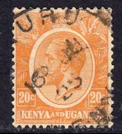 KUT Kenya & Uganda GV 1922-7 20c Orange-yellow, Used, SG 83 (BA) - Kenya & Uganda