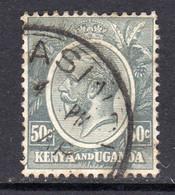 KUT Kenya & Uganda GV 1922-7 50c Grey, Used, SG 85 (BA) - Kenya & Uganda