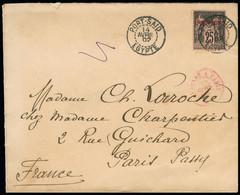 LEVANT FRANCAIS N° 4 Obl. Càd Port Said 14 Avril 1902 Sur Lettre Pour Paris, Arrivée Au Dos, TB - Storia Postale