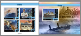 DJIBOUTI 2020 MNH Titanic M/S+S/S - OFFICIAL ISSUE - DHQ2102 - Bateaux