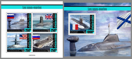 DJIBOUTI 2020 MNH Submarines U-Boote Sous-Marins M/S+S/S - OFFICIAL ISSUE - DHQ2102 - Sous-marins