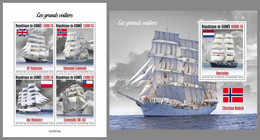 GUINEA REP. 2020 MNH Tall Ships Segelschiffe Großsegler Grands Voiliers M/S+S/S - OFFICIAL ISSUE - DHQ2102 - Bateaux