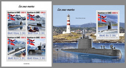 GUINEA REP. 2020 MNH Submarines U-Boote Sous-Marins M/S+S/S - OFFICIAL ISSUE - DHQ2102 - Sous-marins