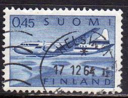 SUOMI FINLAND FINLANDIA FINLANDE 1963 AIR MAIL POSTA AEREA CONVAIR AIRPLANE 440 PLANE AVION 0.45 USATO USED OBLITERE' - Usados