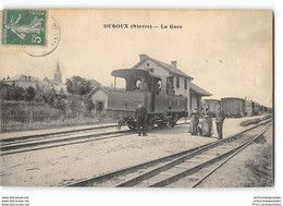 CPA 58 Ouroux La Gare Et Le Train Tramway - Other Municipalities