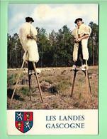 40----LES LANDES GASCOGNE--bergers Sur échasses Gardant Leur Troupeau--voir 2 Scans - Unclassified
