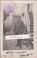 CPA PHOTO - MILITARIA - 25 - CHAMESOL (Doubs) - Officier Du 49ème Régt D'infanterie POILU 1914-15 Cachet Du REGIMENT - Guerre 1914-18