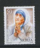 SERBIA-MNH-STAMP-100th BIRHDAY OF MOTHER TERESA-2010 - Abarten & Kuriositäten