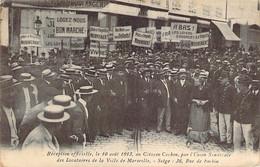 13 Marseille Reception En 1913 Du Citoyen Cochon Par L'Union Des Locataires Manifestation Contre Le Prix Des Loyers - Straßenhandel Und Kleingewerbe