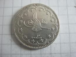 Turkey Ottoman Empire  5 Kurus 1327 ( 1911 ) 3 - Turchia