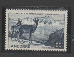 ANDORRE  Aérien 1950  N° 1 Neuf X   Isard - Poste Aérienne