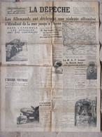 Journal La Dépêche Du Centre (6 Juin 1940) Violente Offensive Des Allemands- Espions Condamnés - Région Centre En Alerte - Andere