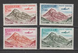 """ANDORRE  Aérien 1961  N °5 à 8 Neuf X (comme Xx)  """"avion Caravelle"""" - Poste Aérienne"""