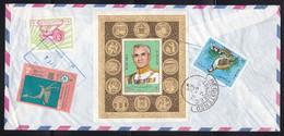 Iran - 1972 Registered Commercial Cover To UK - Franked White Revolution M/Sheet - Iran
