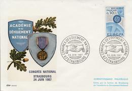 CONGRES DU DEVOUEMENT NATIONAL à STRASBOURG 1967 - Gedenkstempels