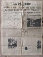 Journal La Dépêche Du Centre (9 Juin 1940) L'ennemi En Nombre Dans La Bataille - Destin Réfugiés - Alertes - Andere