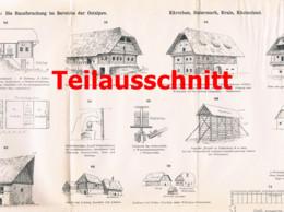 112 Architektur Hausforschung Ostalpen 5 Teile Beilage Zeitschrift 1893 !!! - Architecture