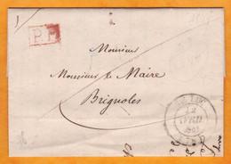 1844 - Cachet à Date 14 Sur Lettre Avec Correspondance En Port Payé De Le Luc, Var  Vers Brignoles - Cad Arrivée - 1801-1848: Precursores XIX