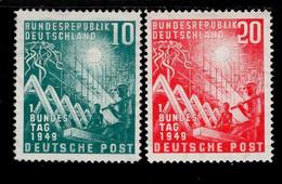 Bund 111 - 112 Deutscher Bundestag MNH  Postfrisch **  (2) - Nuevos