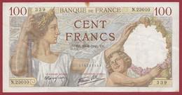 """100 Francs """"Sully"""" Du 19/06/1941.U.S------ALPH .P.23010---Numéro 339-----DANS L ETAT - 100 F 1939-1942 ''Sully''"""