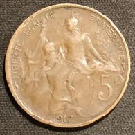 FRANCE - 5 CENTIMES 1917 - Dupuis - Gad 165 - KM 842 - C. 5 Centesimi