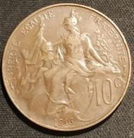 FRANCE - 10 CENTIMES 1916 ★ - Dupuis - Gad 277 - KM 843 - ( Etoile ) - D. 10 Centimes