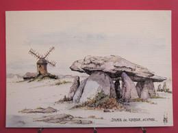 44 - Saint Lyphard - Dolmen De Kerbour - Aquarelle Lépine - CP En Très Bon état - R/verso - Saint-Lyphard