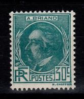 YV 291 N* (infime Trace) Aristide Briand Cote 20 Euros - Nuovi
