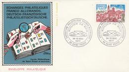 EXPO PHILATELIQUE FRANCO-ALLEMANDE à SAINT PRIEST 1977 - Gedenkstempels