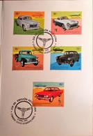 Pack Sellos Postales Industria Automotriz Nacional Argentina Matasellados - Autos / Cars - Sports - Booklets