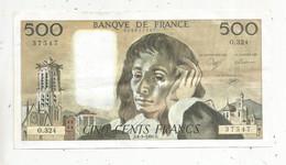 Billet , France , 6-9-1990 , CINQ CENTS FRANCS , 500 Francs , 2 Scans , PASCAL , Frais Fr 2.35 € - 500 F 1968-1993 ''Pascal''