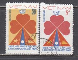Vietnam 1983 - (1) Vietnam, Laos And Cambodia Summit Conference, Mi-Nr. 1306/07, Used - Vietnam