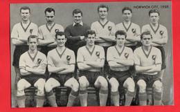 FOOTBALL  SOCCER   NORWICH CITY  TEAM 1959   FAMOUS TEAMS TRADE CARD - Soccer