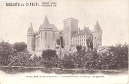 CPA  16 - ANGOULEME (Et Ses Environs) - LAROCHEFOUCAULT, Le Château, Vue Générale - Pub Biscuits Du Château - Angouleme