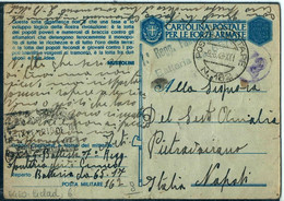 § FRANCHIGIA  PM 162 DIVISIONE CUNEO 7° RGT FANTERIA  BATTERIA Da 65-17 X PIETRAVAIRANO -NAPOLI ISOLE  EGEO - War 1939-45