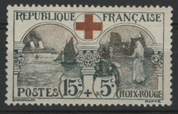 """N° 156 COTE 140 € Neuf * (MH). TB. """"15ct + 5ct Au Profit De La Croix Rouge"""". Vendu à 10% De La Cote - Unused Stamps"""