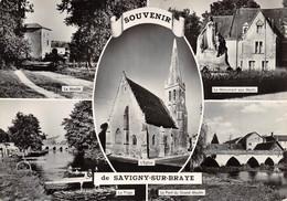 CPSM 41 SOUVENIR DE SAVIGNY SUR BRAYE      Grand Format  15 X 10,5 Cm - Other Municipalities