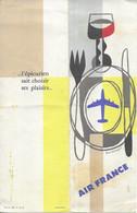 MENU AIR FRANCE ,CARAVELLE NORMANDIE  EN1965 ( Format 21 X 7 ) - Menu