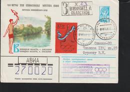 Soviet Registered Cover 1980 Moscou Olympic Games - Torch Relay Vinnytsia (G121-66) - Sommer 1980: Moskau