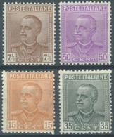 ITALY  - MVLH/* - 1928-1929 - VITTORIO EMANUELE III - Yv 204-207 - Mi 281-284 Sa S.47 50 240-241 224-225 - Lot 23102 - Nuevos