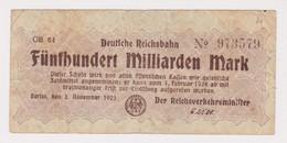DEUTSCHLAND, Deutsche Reichsbahn Berlin, 500 Milliarden Mark - Other