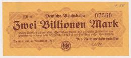 DEUTSCHLAND, Deutsche Reichsbahn Berlin, 2 Billionen Mark - Other