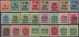 DEUTSCHES REICH - 1923 - Lotto Di 37 Valori Nuovi MNH: Yvert 252, 253, 255/268 E 270/290. - Ongebruikt
