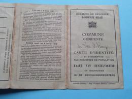 """Carte D'Identité Belge Commune """" LENS-Saint-REMY """" SALMON Georges Braives 20 Juin1905 ( Voir Photo ) 1922 ! - Non Classificati"""