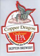 SKIPTON BREWERY (SKIPTON, ENGLAND) - COPPER DRAGON - CHALLENGER IPA - PUMP CLIP FRONT - Letreros